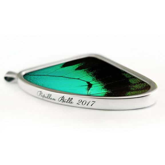 Signature real butterfly wing pendants