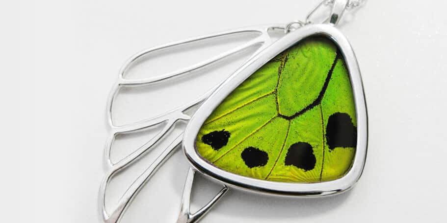 Birdwing butterfly Signature real butterfly wing pendants