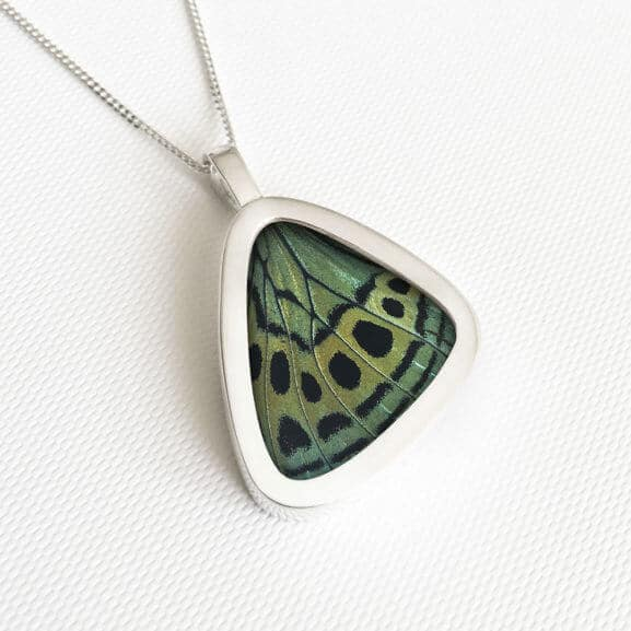 Callithea Signature real butterfly wing pendants