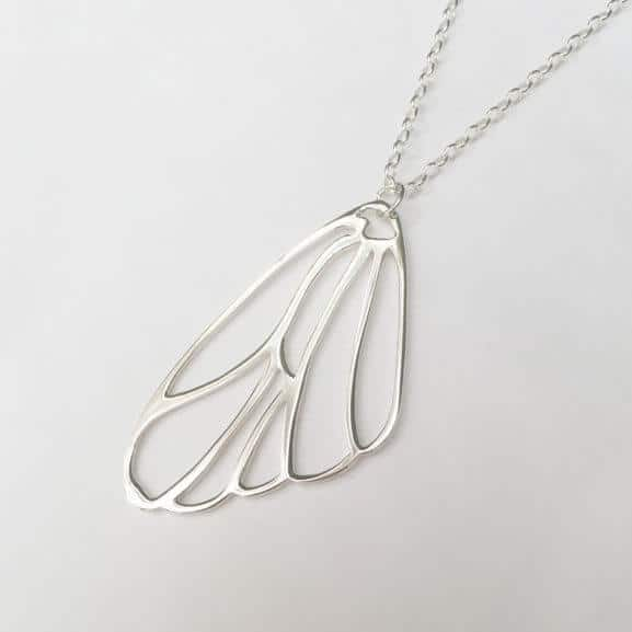 Papillon Belle necklace pendant butterfly wing