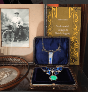 butterfly wing heirloom jewellery from Victorian era